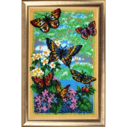 Набор для вышивки бисером - Butterfly - №110 Порхающие бабочки