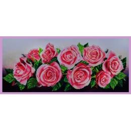 Розовое настроение - Картины бисером - набор для вышивки бисером