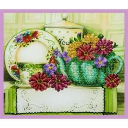 Набор для вышивки бисером - Картины бисером - Р-333 Цветочный чай