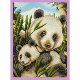 Панды-милашки - Картины бисером - набор для вышивки бисером
