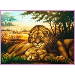 Набор для вышивки бисером - Картины бисером - Львиная нежность