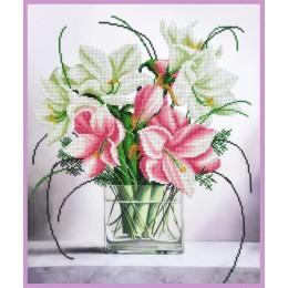 Нежный букет - Картины бисером - набор для вышивки бисером