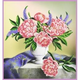 Пионы на столе - Картины бисером - набор для вышивки бисером