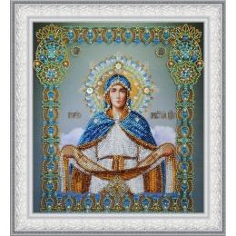 """Икона """"Покров Пресвятой Богородицы"""" - Картины бисером - вышивка бисером икон"""