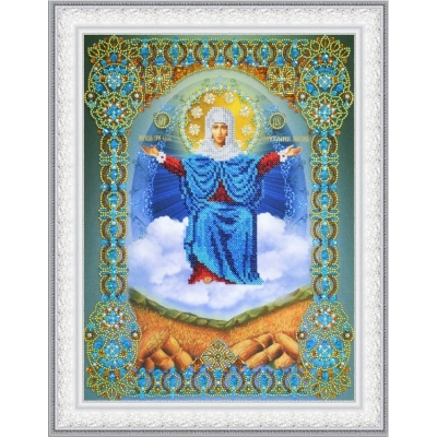 Вышивка бисером икон - Картины бисером - Икона Божией Матери