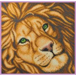 Лев - Картины бисером - набор для вышивки бисером