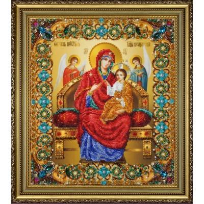 Икона Божьей Матери Всецарица - Картины бисером - вышивка бисером икон