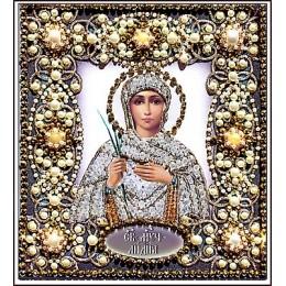 Святая Лидия - Образа в каменьях - вышивка бисером икон