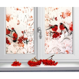 Набор для вышивки бисером - Образа в каменьях - 5517 Снегири за окном