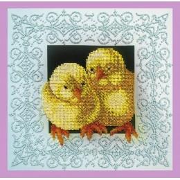 Цыплята - Картины бисером - набор для вышивки бисером