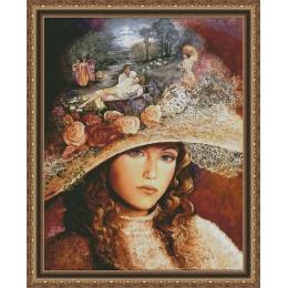 Набор для вышивки крестом - Фантазия ТМ - 200/48 Бабушкина шляпа (на 18 Аиде)