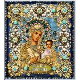 Богородица Иверская - Образа в каменьях - вышивка бисером икон