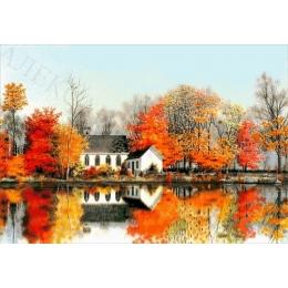 Авторский набор для вышивки бисером - Токарева А. - Отражение в воде. Осень 46-4674-НО