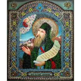 Образ СИЛУАНА АФОНСКОГО - Образа в каменьях - вышивка бисером икон