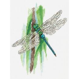 Набор для вышивки крестом - PANNA - ПС-7091 Мгновения лета. Стрекоза