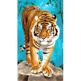 Тигр на прогулке - Токарева А. - авторский набор вышивки бисером
