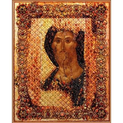 Вышивка бисером икон - Образа в каменьях - Спаситель (Храмовая икона)