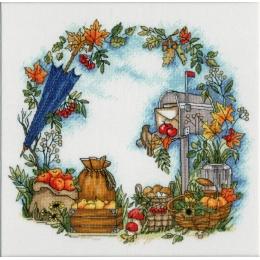 Осенние письма - Золотое руно - набор вышивки крестом
