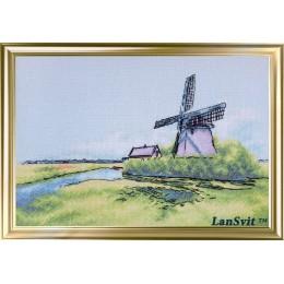 Мельница в Голландии - ЛанСвіт- набор вышивки крестом