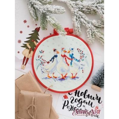 Набор для вышивки крестом - Абрис Арт - Три веселых гуся