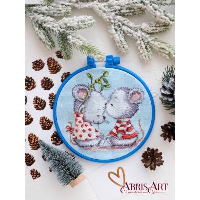 Набор для вышивки крестом - Абрис Арт - АНМ-017 Влюбленные мышата