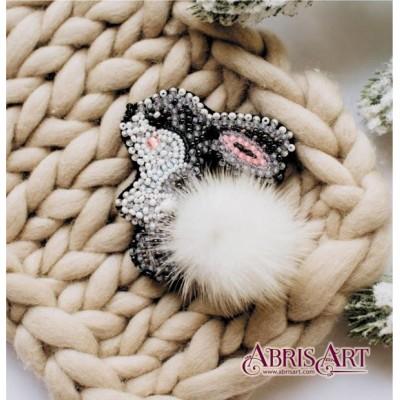 Набор для вышивки бисером - Абрис Арт - AD-026 Зайка (украшение)