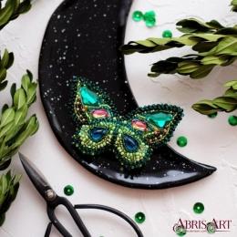 Набор для вышивки бисером - Абрис Арт - Изумрудный август (украшение)