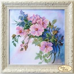 Набор для вышивки бисером - Тэла Артис - НТК-041 Дикая роза