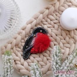 Набор для вышивки бисером - Абрис Арт - Снегирь (украшение)