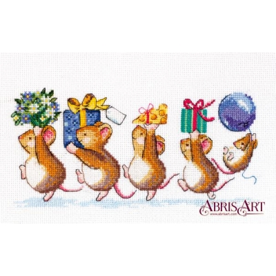 Набор для вышивки крестом - Абрис Арт - Спешим поздравить