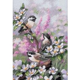 Набор для вышивки крестом - Dimensions - 06884 Синички весной