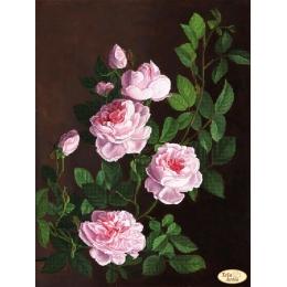Схема для вышивки бисером - Тэла Артис - ТК-075 Розовая ветвь