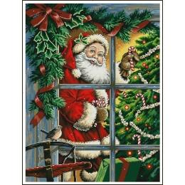 Candy Cane Santa (Карамельный Санта) - Dimensions - набор для вышивки крестом