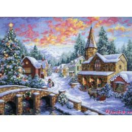 Рождественская деревня - Dimensions - набор для вышивки крестом