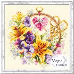 Набор для вышивки крестом - Чудесная игла - 100-121 Лилии для рукодельницы