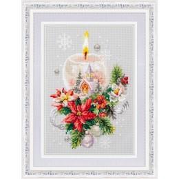 Рождественская свеча - Чудесная игла - набор для вышивки крестом