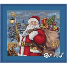 Набор для вышивки крестом - ТМ Мережка - К-102 Санта приходит!