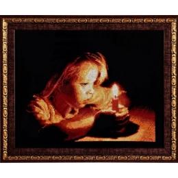 Девочка со свечей - Алисена - набор вышивки крестом