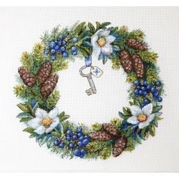 Венок Зимний - ТМ Мережка - набор вышивки крестом