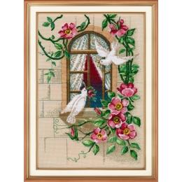 Набор для вышивки крестом - ОВЕН - 1047 На крыльях любви
