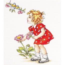 Девочка в красном платье В1050 - Luca-S - набор для вышивки крестом