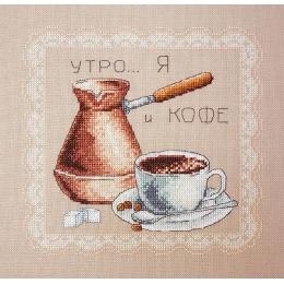 Набор для вышивки крестом - Марья Искусница - 11.001.05 Черный кофе