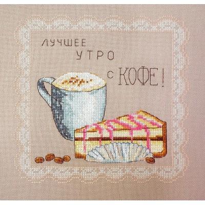 Утро с кофе - Марья Искусница - набор для вышивки крестом