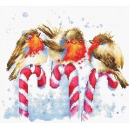 Рождественские птицы - Luca-S - набор для вышивки крестом