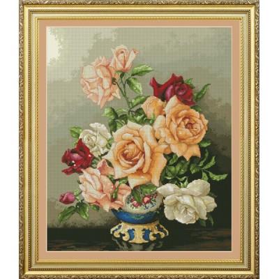 Набор для вышивки крестом - OLanTA - VN-116 Букет роз