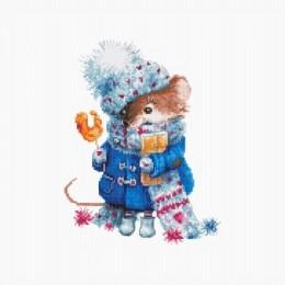 Pождественская мышь - Luca-S - набор для вышивки крестом