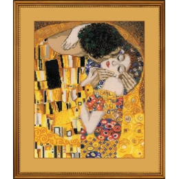 «Поцелуй» по мотивам картины Г. Климта - РИОЛИС - набор для вышивки крестом
