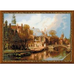 Набор для вышивки крестом - РИОЛИС - 1189 Амстердам. Старая церковь и церковь Св. Николая Чудотворца