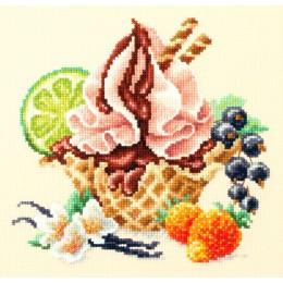Ванильное мороженое - Чудесная игла - набор для вышивки крестом