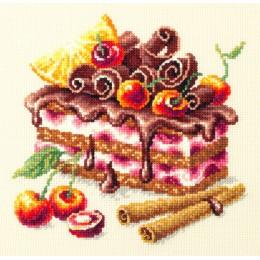 Вишнёвый торт - Чудесная игла - набор вышивки крестом